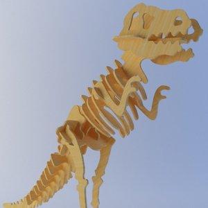 3d model t-rex laser cut