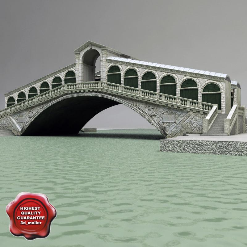 venice rialto bridge 3ds