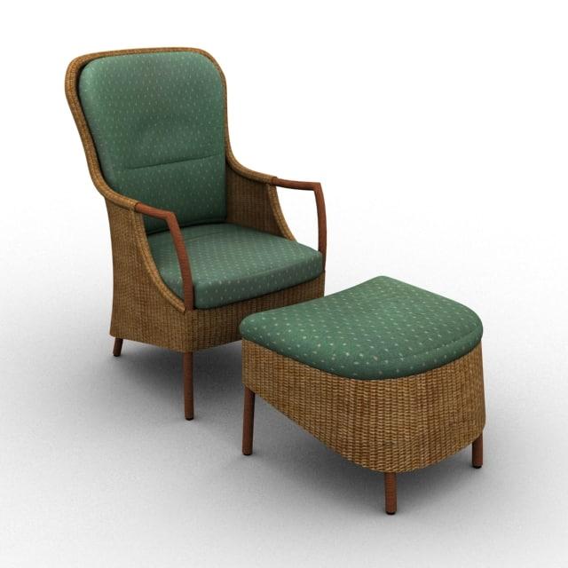 3d model vincent armchair
