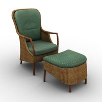 3d model vincent armchair