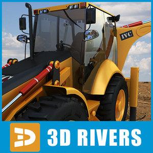 3d model backhoe loader industrial vehicles