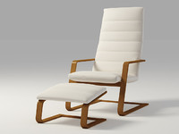 BOLIDEN Chair and footstool