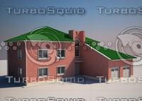 3d cottage exterior build
