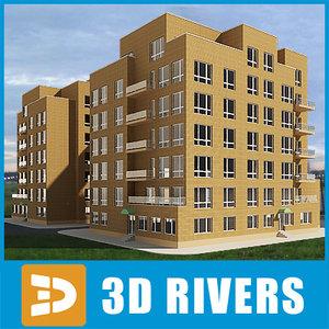 apartment building 3d 3ds
