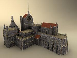 obj medieval castle