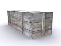 3d wood chest model