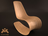 savannah rocker iii chair 3d model
