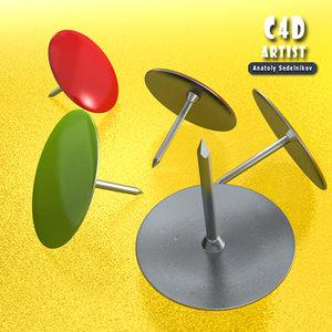 paper pin c4d