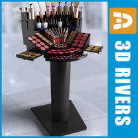 make display case cosmetics 3d model