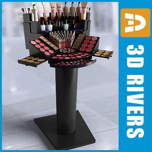 make display case cosmetics 3d model