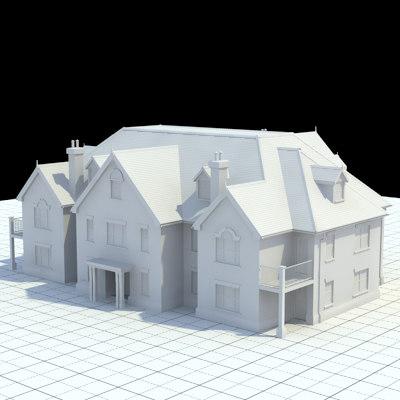 3ds max great manor house