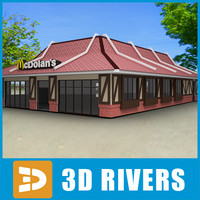 3d 3ds fast food restaurant mcdonald