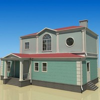 3d modern architecture house