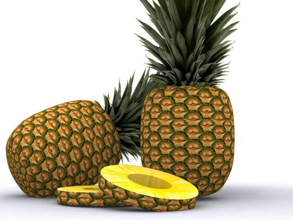 3d model pineapple apple