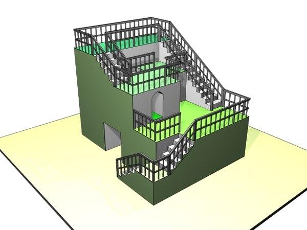 playground structure 3d x