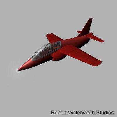 red arrows jet 3d model