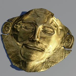 3d golden mask agamemnon object model