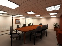 3d meeting room sala reuniones model