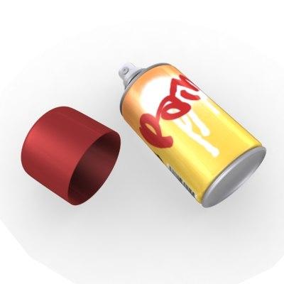 3d model spray spraycan