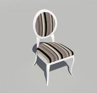 3d chair dinner classic model