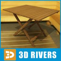 sauna table 3d max
