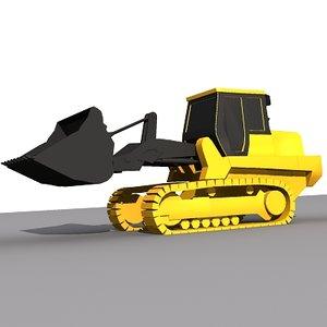 3d max track loader