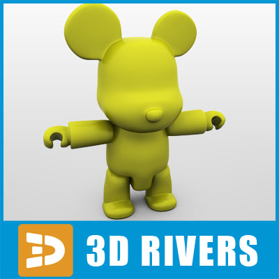 vinyl bear 3d model
