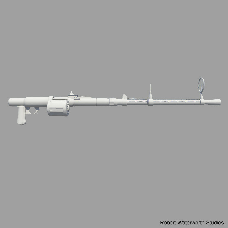 ww2 german machine gun 3d ma