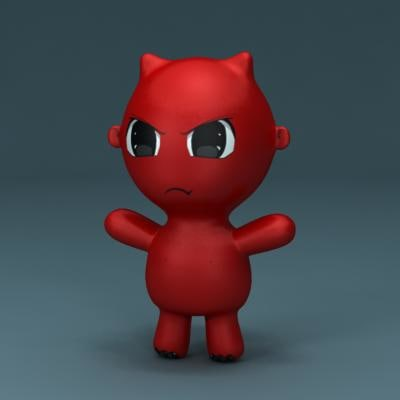 3d model devil toy