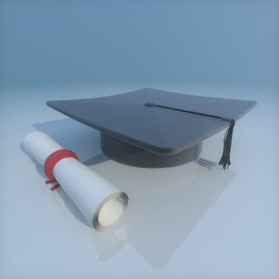 graduation cap 3ds