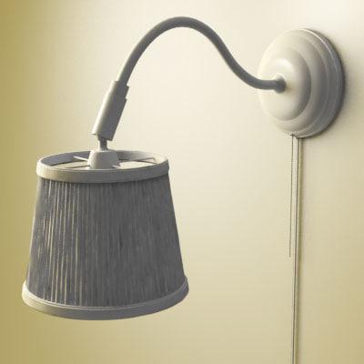 ikea wall lamp 3d model