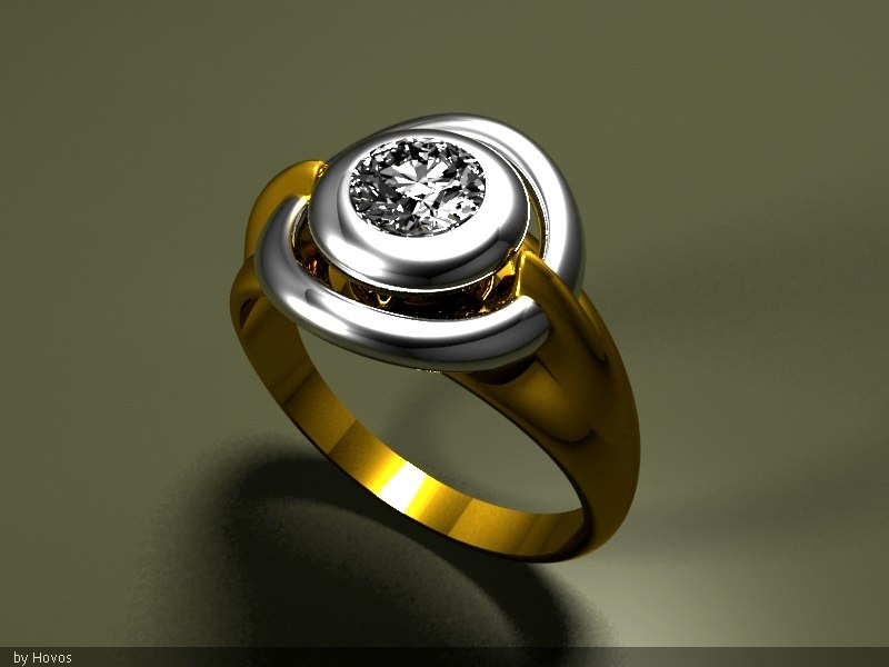 rhino gold ring