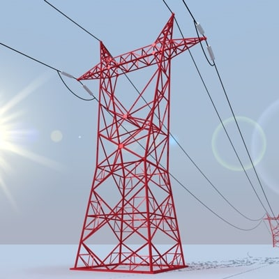 powerline 3d model