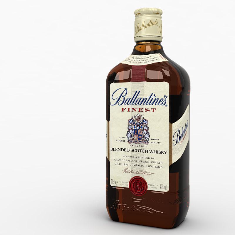 3d model of whisky bottle