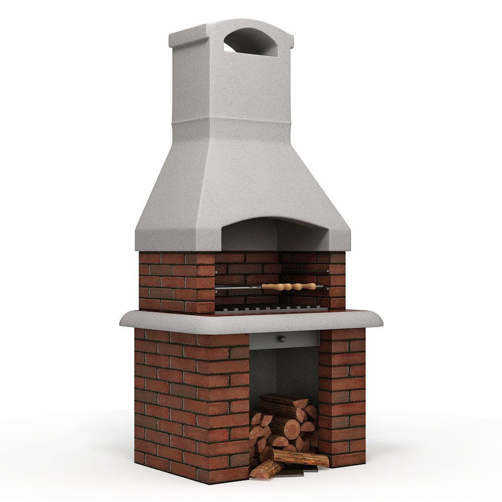 barbecue furnace 3d max