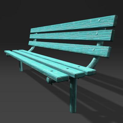 bench 3d obj