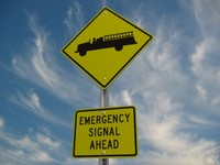3d model emergency vehicle crossing street sign