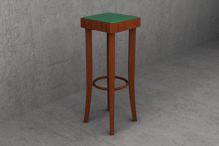 max 80cm cafe stool upholstered