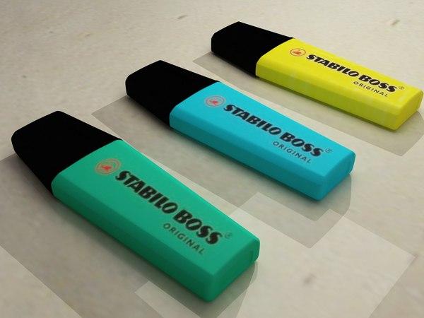 highlighter pens 3d max
