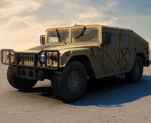humvee military jeeps 3d max