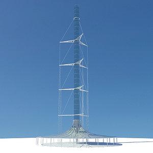 3d solar updraft tower