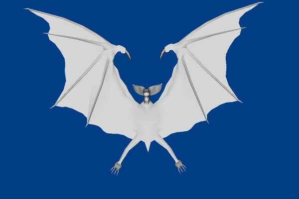 3d model bat lowpolygon