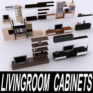 3d model of tv cabinets furniture