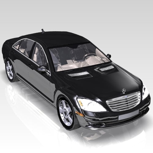 car s-class luxurious 3d max