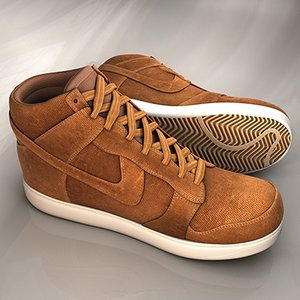 3ds max brown nike boots