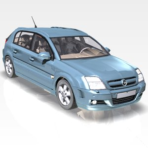 car opel signum 3d model