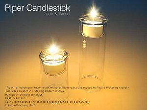 maya candle candleholder piper