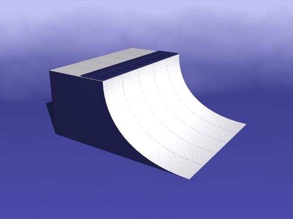 3d model quarterpipe ski snowboard