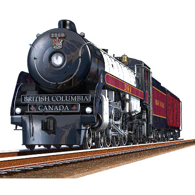 3d model royal hudson steam engine