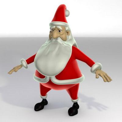 3d model character santa